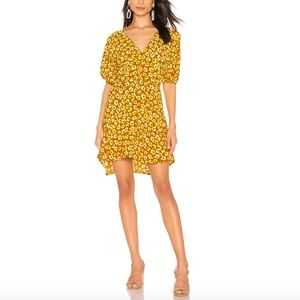 Faithfull The Brand Ilia Mini Dress in Saffron